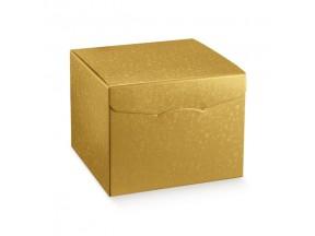 scatola oro cartone sfere