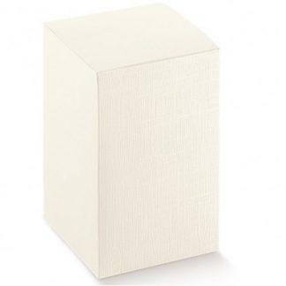 Scatole regalo cartone bianco pieghevole mm.100x100x160 pz.10