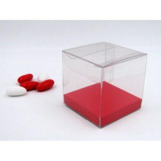 Fondo rialzato rosso effetto pelle mm.60x60 altezza mm.10 pz.50