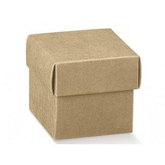Portaconfetti scatolina avana mm..50x50x50 pz.50