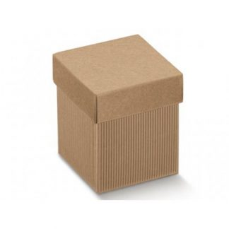 Scatole regalo cartone avana mm 140x140x80 pz.10