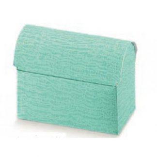 Scatola cartone a cofanetto colore verde acqua mm.70x45x52 pz.10