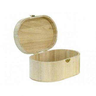 Scatola in legno di balsa ovale mm 190x110 h.70