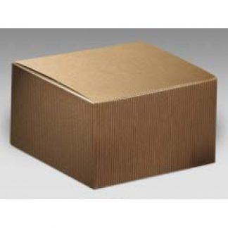 Scatola cartone pieghevole avana mm. 130x130x110 pz. 10