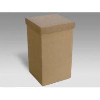 Scatola cartone avana mm. 80x80x150 pz.10