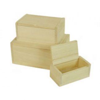 Scatola legno di balsa rettangolare mm.110x60 h.45