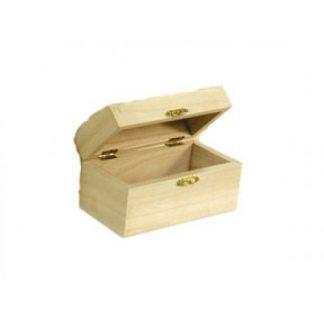 Scatola legno di balsa a bauletto mm 135x65x h.70