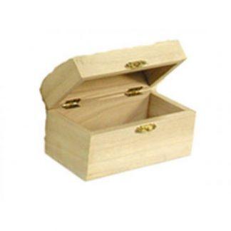 Scatola legno di balsa a bauletto mm 260x190 h.12,5