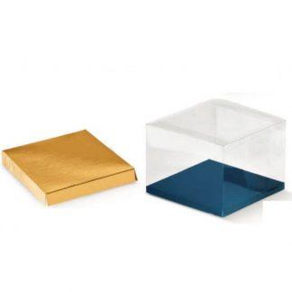 Fondo rialzato oro mm. 90x90 altezza mm.10 pz. 50
